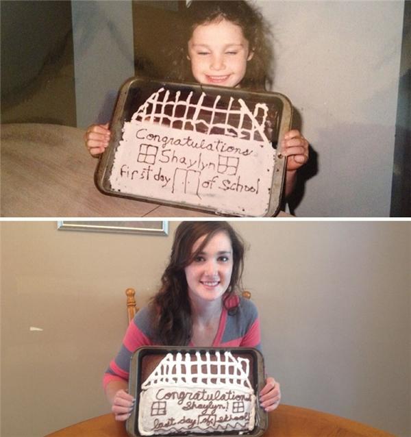 Ngày đầu vào cấp 1 được mẹ nướng cho ổ bánh ăn mừng, và giờ đây khi đã tốt nghiệp phổ thông cũng được mẹ ưu ái tặng cho ổ bánh tương tự.
