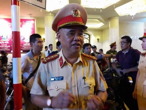 Đại tá Đào Vịnh Thắng - Trưởng phòng CSGT Hà Nội chia sẻ về cách thức quản lý trật tự an ninh tại phố đi bộ Hồ Gươm.