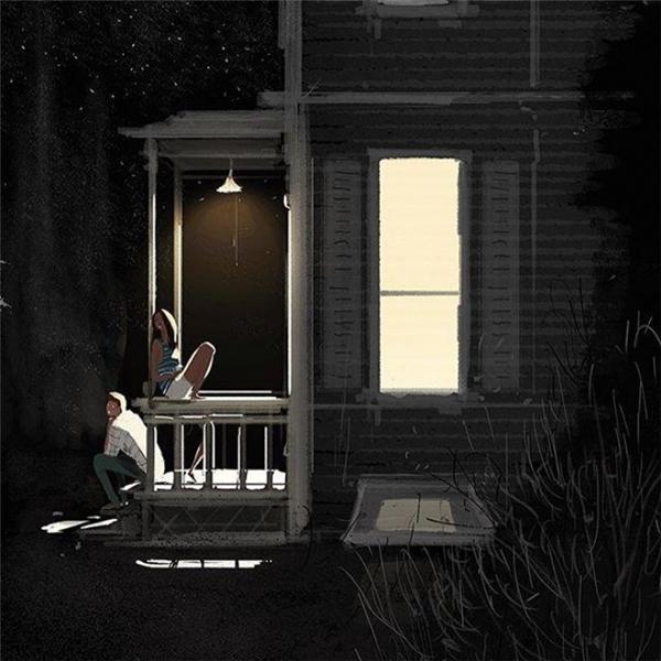Đêm hè thanh vắng, em và anh cùng ngồi trước hiên nhà, vừa ngắm sao vừa chuyện trò mơ ước.