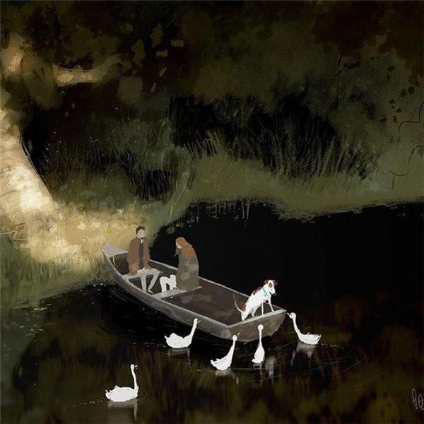 Chúng ta sẽ vừa chèo thuyền vừa ngân nga câu hát tình yêu.