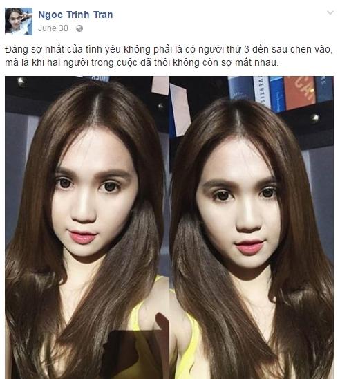 Không cần chị gái ám chỉ, Ngọc Trinh đã nhiều lần công khai độc thân - Tin sao Viet - Tin tuc sao Viet - Scandal sao Viet - Tin tuc cua Sao - Tin cua Sao