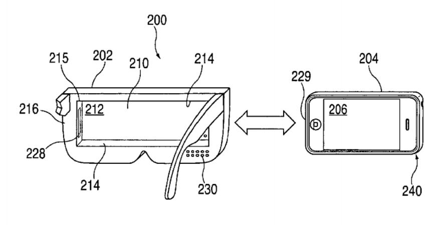 Bằng sáng chế mới nhất về kính thực tế ảo VR của Apple (Ảnh: internet)