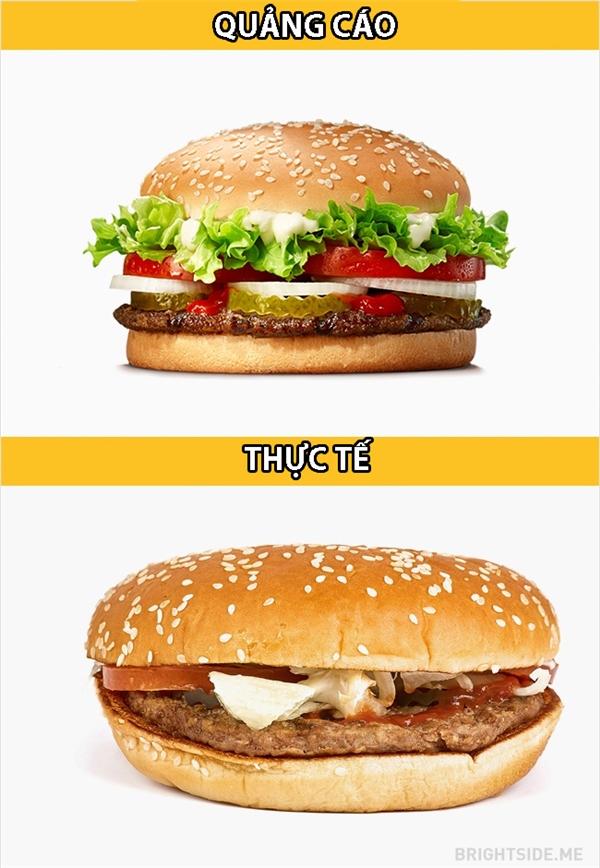 Burger bònhư chuyện tình online, chỉ đẹp khi chưa nhìn thấy mặt nhau.