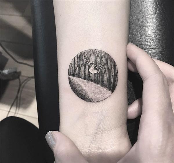 Những tác phẩm nghệ thuật tuyệt đẹp trong hình xăm tròn