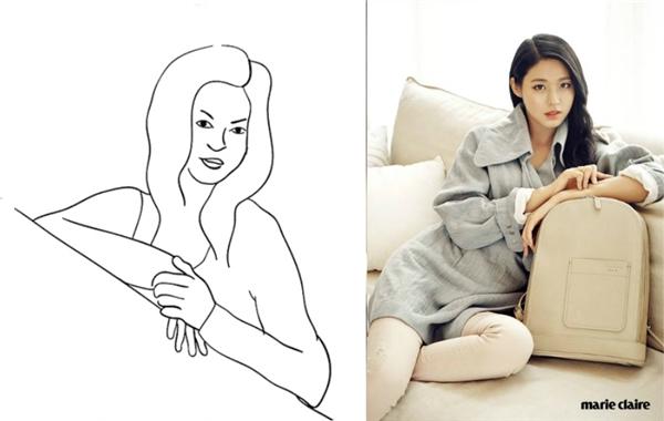3. Bạn nên đặt tay lên ghế để tạo thành một đường chéo, tư thế này giúp cơ thể trở nên mềm mại, tự nhiênhơn khi lên hình.