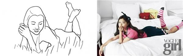 5. Ở một tư thế khác, bạn sẽ dễ dàng sử dụng hai bàn tay đểbức ảnh không quá nhàm chán. Việc đung đưa đôi chân cũng góp phần không nhỏ trong việc tạo nên bức ảnh hài hòa, cân xứng.