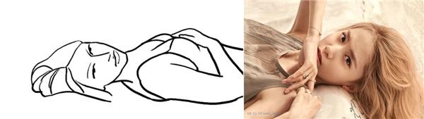 6. Với cách tạo dáng này, bạn nên tận dụng tốt hai cánh tay cùng biểu cảm gương mặt để bức ảnh tạo đượcđiểm nhấn.