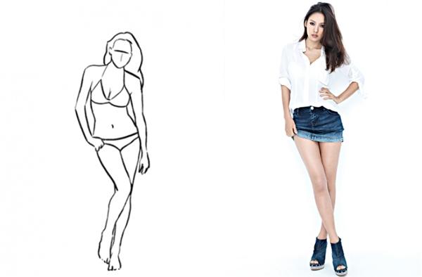 """10. Chống một tay vào hông sẽ giúp vòng eo của bạn trông nhỏ hơn, kết hợp cùng cách tạo dáng vắt chéo chân cực hữu hiệu trong việc """"ăn gian"""" chiều cao."""