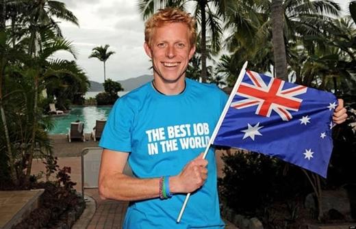 Ben Southall là một trong những người may mắn được nhận làm công việc nghỉ mát dài ngày tại đảo Hamilton (Australia).