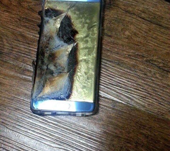 Một chiếc Galaxy Note 7 bị phát nổ do lỗi pin. (Ảnh: internet)