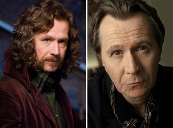 Sirius Black (Gary Oldman)- thành viên của hội Phượng Hoàng là một trong những diễn viên gao cội của nước Anh.Sau thành công củaHarry Potter,Gary Oldmangóp mặt trong nhiều dự ánbom tấn như khác nhưThe Dark Knight, Lawless,RoboCop,Paranoia, vàDawn of the Planet of the Apes.