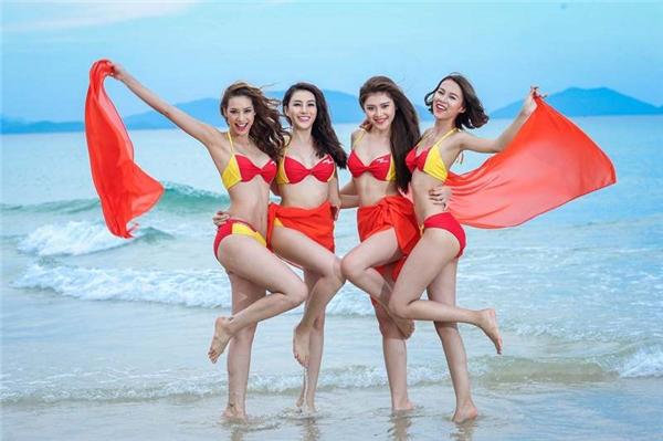Sự hợp tác mang tính đồng đội cao đã giúp Phí Phương Anh và 3 cô gái còn lại của đội Hồ Ngọc Hà giành được chiến thắng đầu tiên khi chụp ảnh quảng cáo cho một hãng hàng không danh tiếng trong nước.