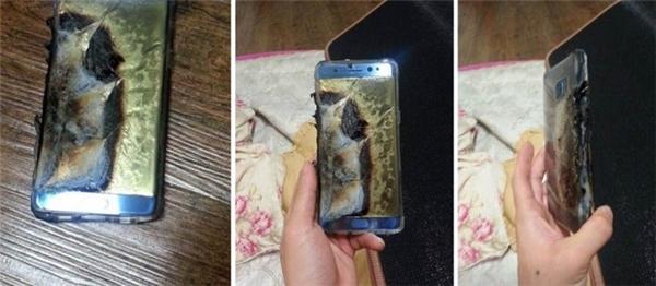 Một chiếc smartphone phát nổ khi đang sạc pin. (Ảnh: internet)