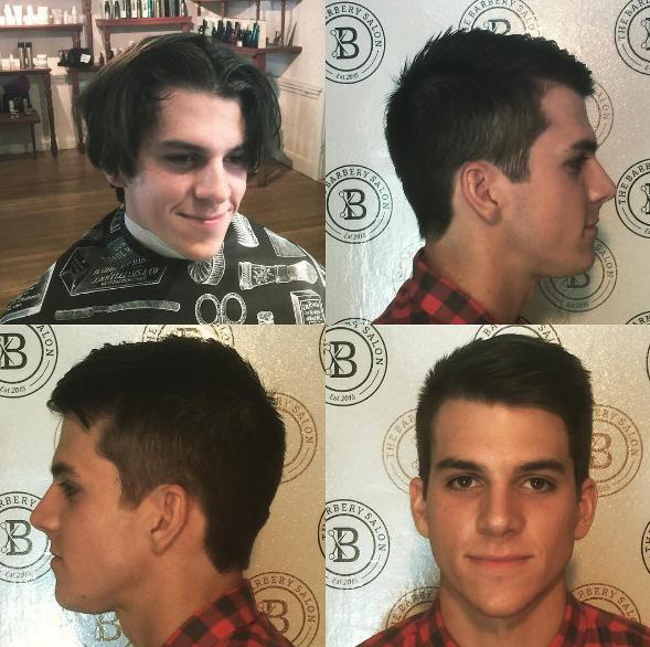 """Tạm biệt mái tóc bổ luống mang đậm phong cách của các boyband thập niên 90, anh chàng này đã một bước trở thành hot boy với diện mạo vừa xinh trai lại vừa nam tính. Điều đáng nói là mái tóc mới còn không hề """"lồng lộn"""" mà chỉ là kiểu tóc nam cơ bản nhất."""