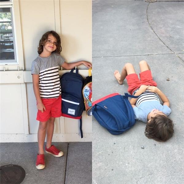 Lúc mẹ đến đón thì đã thấy con nằm ngủ ngon lành trên vỉa hè trước cổng trường, thậm chí còn chưa xỏ cả giày. Đi học làm con mệt đến mức đó ư?