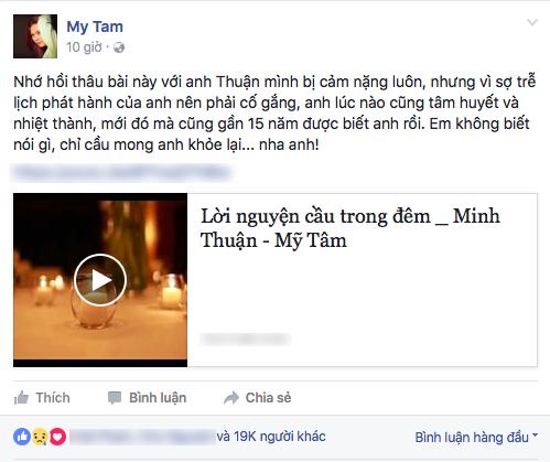 Mỹ Tâm chia sẻ kỉ niệm cùng đàn anh Minh Thuận trên trang cá nhân. - Tin sao Viet - Tin tuc sao Viet - Scandal sao Viet - Tin tuc cua Sao - Tin cua Sao