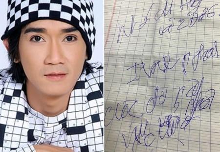 Những nét chữ mới nhất do chính tay Minh Thuận viết khi đang nằm trên giường bệnh được Phương Thanh chia sẻ vào tối ngày 04/09. - Tin sao Viet - Tin tuc sao Viet - Scandal sao Viet - Tin tuc cua Sao - Tin cua Sao