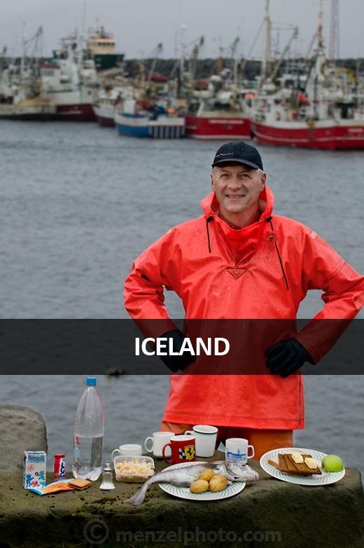 Karel Karelsson, ngư dân cá tuyết tại cảng Sandgerdi, phía tây bán đảo Reykjanes, Iceland