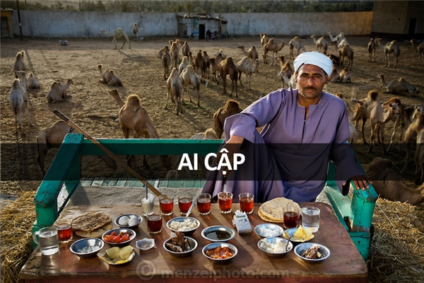 Saleh Abdul Fadlallah (40 tuổi), buôn lạc đà tại Cairo, Ai Cập: 3.200 calo mỗi ngày