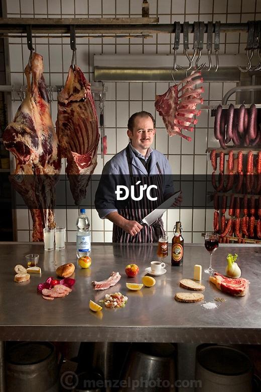 Marcus Dirr (43 tuổi), bán thịt tại Endingen, Đức: 4.600 calo mỗi ngày