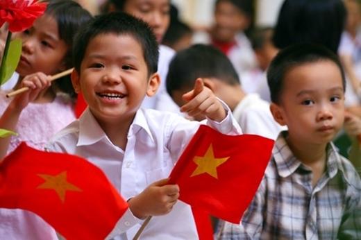 Học sinh trong lễ khai giảng tại thủ đô Hà Nội (Ảnh: Lê Hiếu)