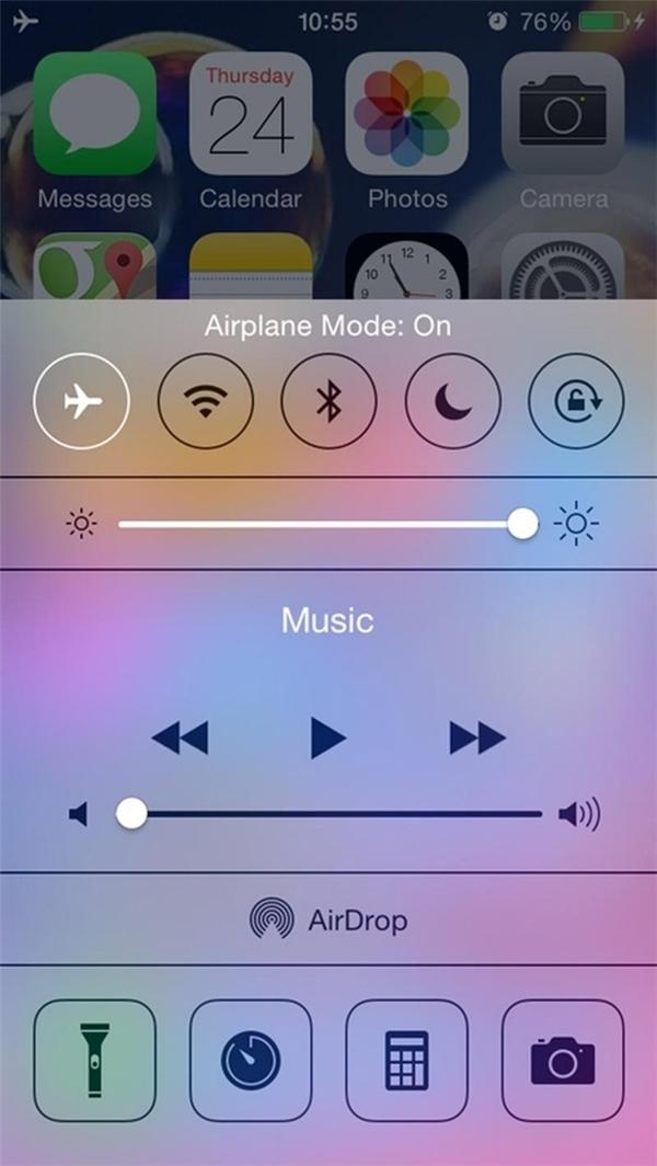 Tắt quảng cáo khi đang chơi game hay sử dụng một ứng dụng nào đó: chuyển máy về chế độ Airplane Mode là xong.