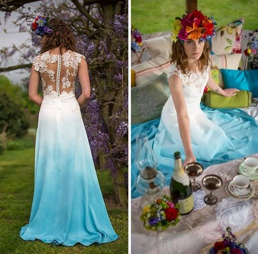 Bạn có thể chọn hoa cưới tương phản với màu váyđể thêm phần nổi bật.