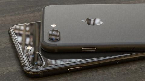 So sánh màu đen bóng và đen nhámcủa iPhone 7 Plus. (Ảnh: internet)