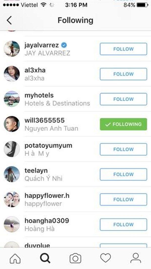 Quỳnh Anh Shyn vẫn follow Will trên Instagram của Will 365 - Tin sao Viet - Tin tuc sao Viet - Scandal sao Viet - Tin tuc cua Sao - Tin cua Sao