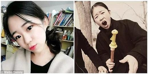 Nếu chỉnhìn bức ảnh bên phải, hẳn bạn sẽ thắc mắc không hiểu vì saocô gái này có thể tìm được người yêu.