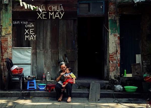 Ngõ nhỏ phố nhỏ nhà tôi ở đó.Ảnh: Nguyễn Danh Khoa