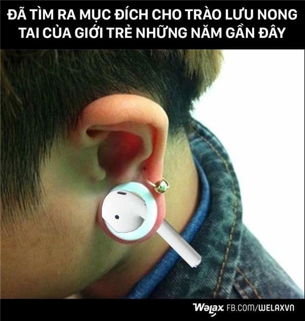 Thuyết âm mưu:Tai nghe rời của Apple được ra mắt chính là để phục vụ phong trào nong tai của giới trẻ.