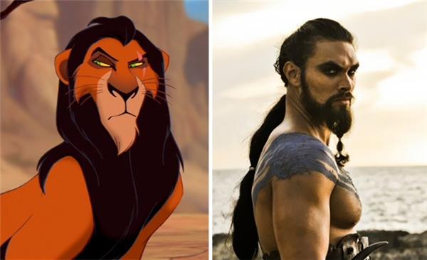Trước đây khi thấy tạo hình củaKhal Drogoai nấy cũng đều ngớ người ra bảo trông quen lắm, hóa ra là lấy ý tưởng từ Scar trongLion King?