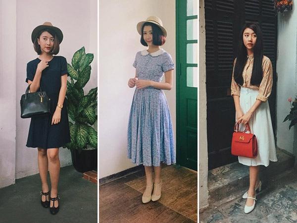"""Thời trang vintage được xem là luôn """"gắn liền"""" với cô nàng 9X. (Ảnh: Internet)"""