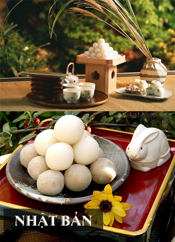 Tsukimi Dango là bánh Trung thu đặc trưng của Nhật Bản vàđược làm từ bột nếp
