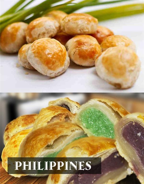 Bánh Hopia hấp dẫn thực khách bởi vỏ bánh nướngthơm phưng phức vànhân bánh vô cùngđặc biệt.
