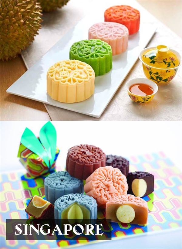 Bánh dẻo nhân sầu riêng được biến tấu từ bánh da tuyết của Trung Quốc và được hầu hết người dân Singapore yêu thích.