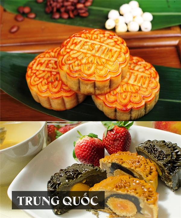 Bánh Trung thu của Trung Quốc thường có dạng hình tròn, mang ý nghĩa đoàn viên.