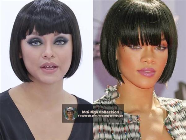 Vẻ ngoài của Á quân The Face Vietnam 2016 còn được mang ra so sánh với nữ ca sĩ Rihanna.
