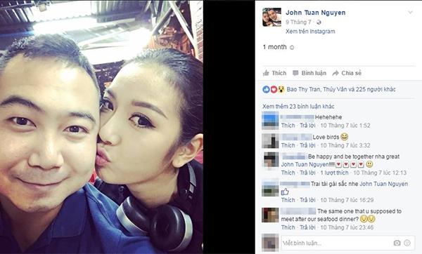 Trước đó, vị đại gia này cũng chủ động đăng tải hình ảnh kỉniệm một tháng yêu nhau của hai người. - Tin sao Viet - Tin tuc sao Viet - Scandal sao Viet - Tin tuc cua Sao - Tin cua Sao