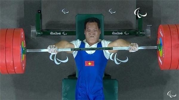 Lực sĩ Công tự tin thi đấu chinh phục Huy chương vàng. (Ảnh: Internet)
