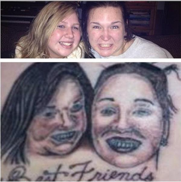 Hai cô gáicó khi phải ngất xỉu với hình xăm của chính mình đấy.