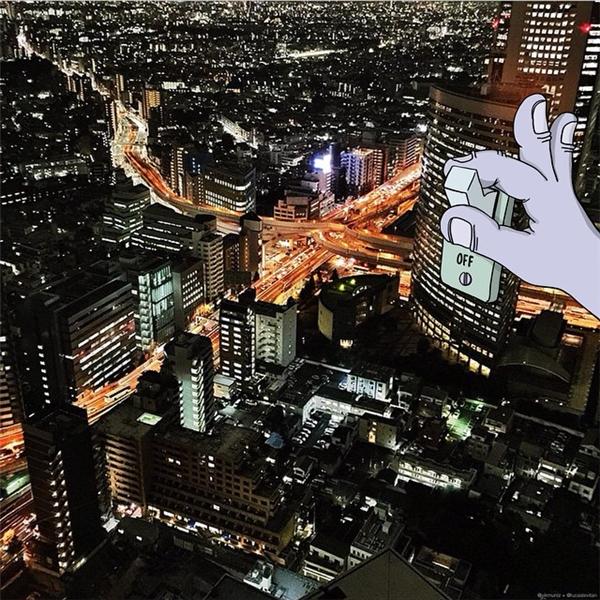 Khi thành phố lên đèn... (Ảnh: Instagram)