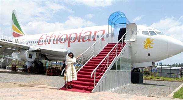 Doanh nhânGuttama Gutta đãmua lại máy bay và thiết kế thành nhà hàng Ethiopian.