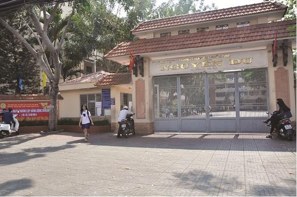 Trường THPT Nguyễn Du, nơi thầy Phú về nhận công tác từ ngày 1/9.