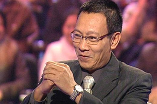 MC Lại Văn Sâm trong chương trình Ai là triệu phú.
