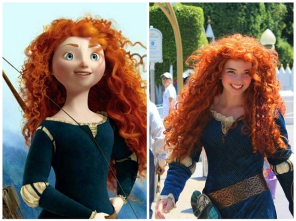 Nàng công chúa tóc xù của Brave và nụ cười lạc quan đặc thù. (Ảnh: Bright Side)