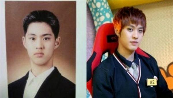 Hình ảnh sau này khi diện đồng phục trông Seung Ho (MBLAQ) giống nam sinh trung học hơn. Ngày xưa, anh như một cậu sinh viên vừa tốt nghiệp đại học bởi gương mặt điển trai, hiền lành như rất nghiêm nghị.