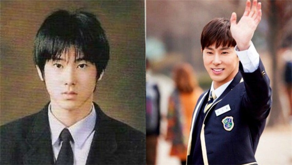 """Từ khi còn """"mài đít"""" trên ghế nhà trường, Yunho (DBSK) đã là một mĩ nam với những đường nét hoàn hảo trên gương mặt. Dù năm nay đã bước sang tuổi 30 nhưng khi diện đồng phục, nam thần tượng vẫn như một """"vị thần phương Đông"""" và hoàn toàn không để lộ khuyết điểm tuổi tác."""