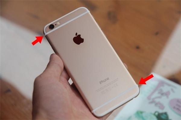 Dải ăng-ten trên iPhone 6s Plus. (Ảnh: internet)